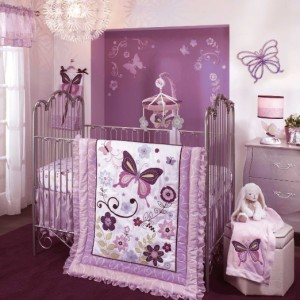 Butterfly Girl Crib Set & Decor