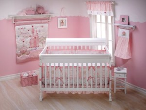 Cute Baby Girl Crib Set