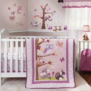 Lavender Woods Baby Girl Crib Set