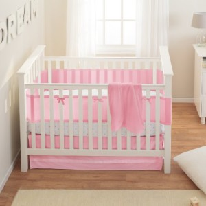 Pink Mist Baby Girl Crib Set