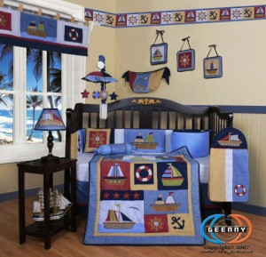 Geenny Nautical Crib Set