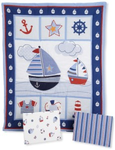 Sails Away Nautical Set For Crib