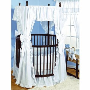 Carnation Round Baby Crib and Mattress